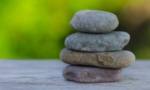 Balanced rocks symbolize Dr. Wu's approach for addiction recovery working from a mindfulness therapy and psychodynamic perspective.
