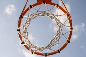 Basketball hoop symbolizing today's competitive environment and ways to cope with stress.