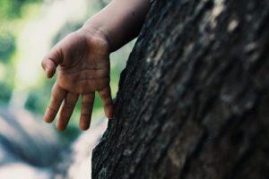 A tense hand